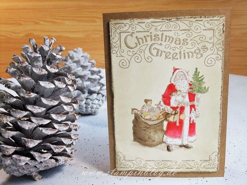 Weihnachten-Weihnachtskarte-Father-Christmas-Vintage-Stampinblog-Stampin