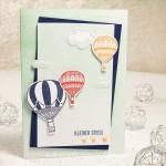 Ein kleiner Gruß mit Heißluftballons
