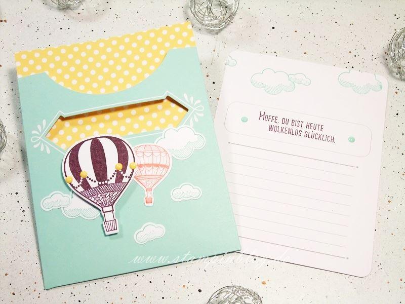 Kartenset-Kreativ-Kuvertiert-Abgehoben-Ballon-Heißluftballon-Stampinblog-Stampin