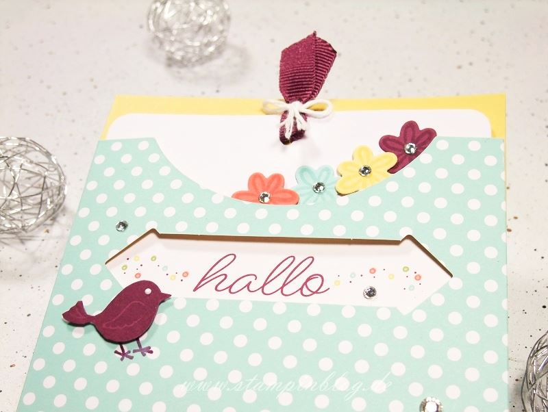 Kartenset-Kreativ-Kuvertiert-Swirly-Bird-Geburtstag-Vogel-Blume-Stampinblog-Stampin