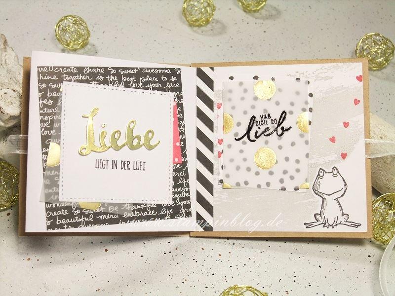 Album-Valentinstag-Liebe-Herz-Frosch-Innen2-pink-schwarz-gold-Stampinblog-Stampin