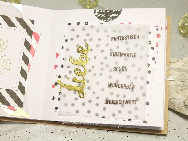 Album-Valentinstag-Liebe-Herz-einzigartig-pink-schwarz-gold-Stampinblog-Stampin