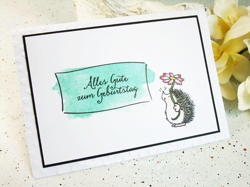 Geburtstag-Glückwunsch-Kinder-Igel-Blume-Penny-Black-Stampinblog-Stampin