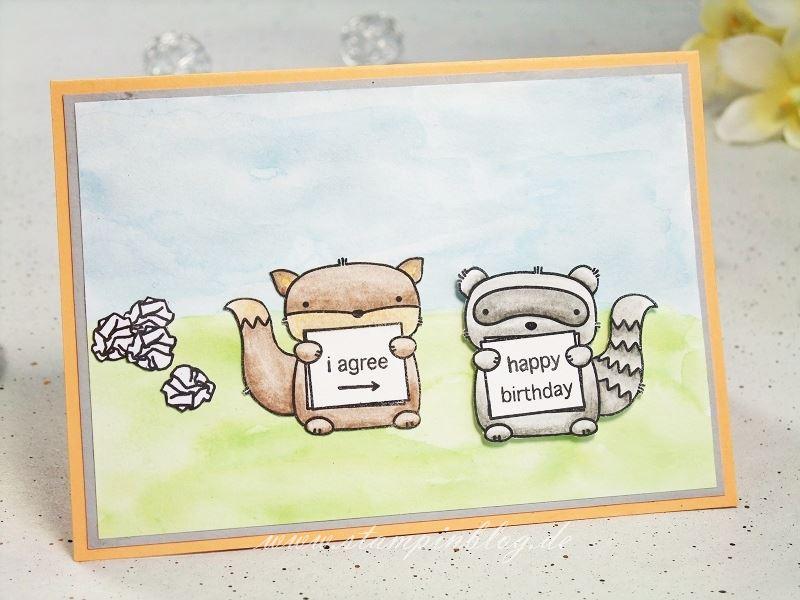 Geburtstagskarte Schreiben Mama.Geburtstagskarte Happy Birthday I Agree Stampinblog
