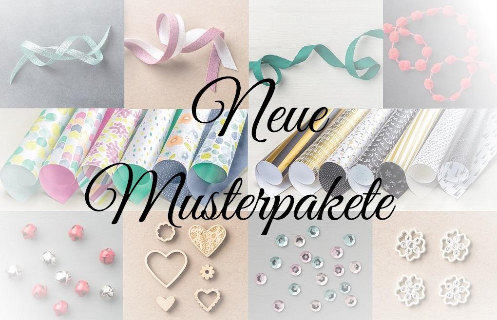 Neue Musterpakete für Designerpapier und Bänder aus dem Herbst-/Winterkatalog