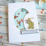 DSP Nostalgischer Geburtstag: Geburtstagskarte mit Schildkröte