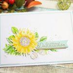 Herbstliches Dankeschön mit Sonnenblume