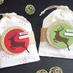 Baumwollsäckchen mit Rentier