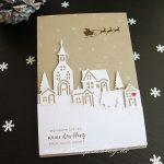 Weihnachten daheim - Weihnachtskarte mit Winterstädtchen