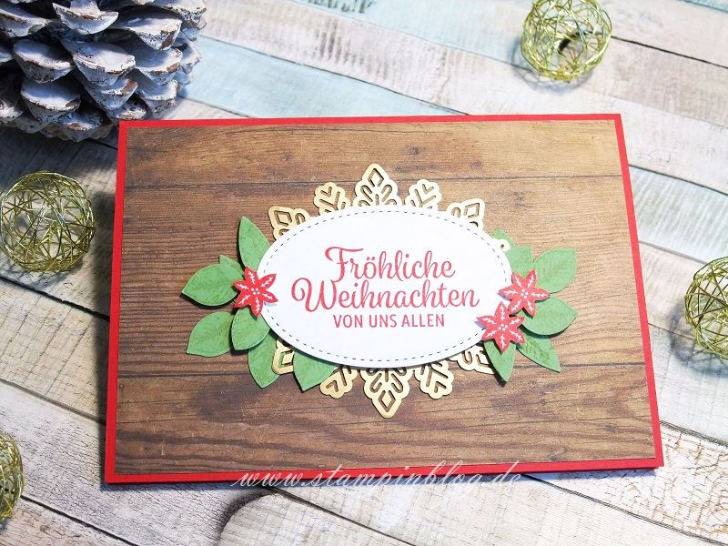 Rustikale Weihnachtskarte