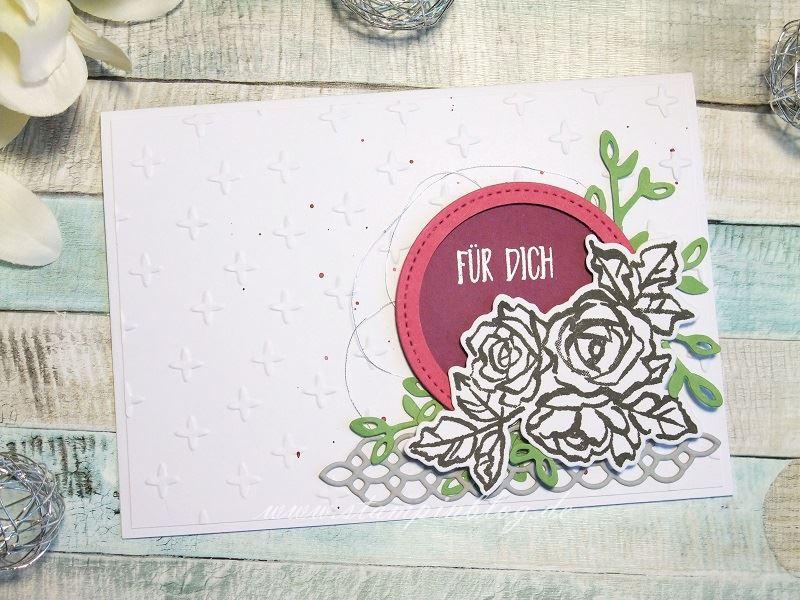 Grußkarte - Rosen für Dich