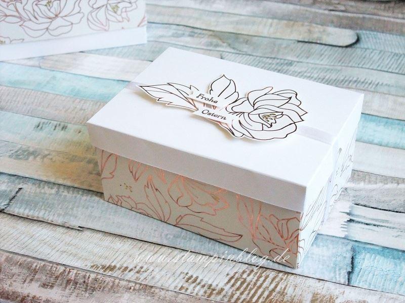 Verpackung mit dem Designerpapier Frühlingsglanz