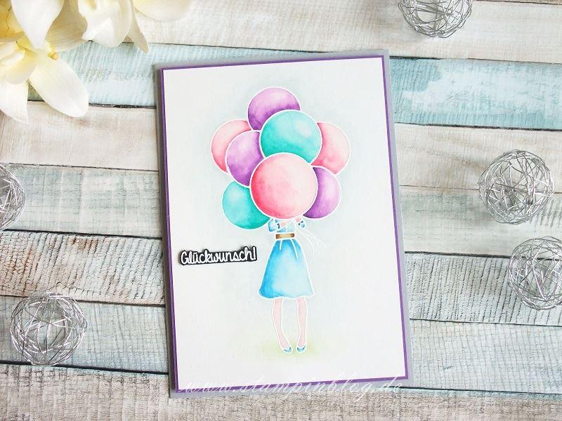 Geburtstagsgrüße mit Luftballons