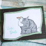Liebe Grüße mit Nashorn