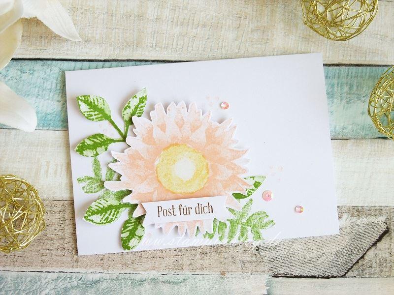 Post für dich mit Sonnenblume