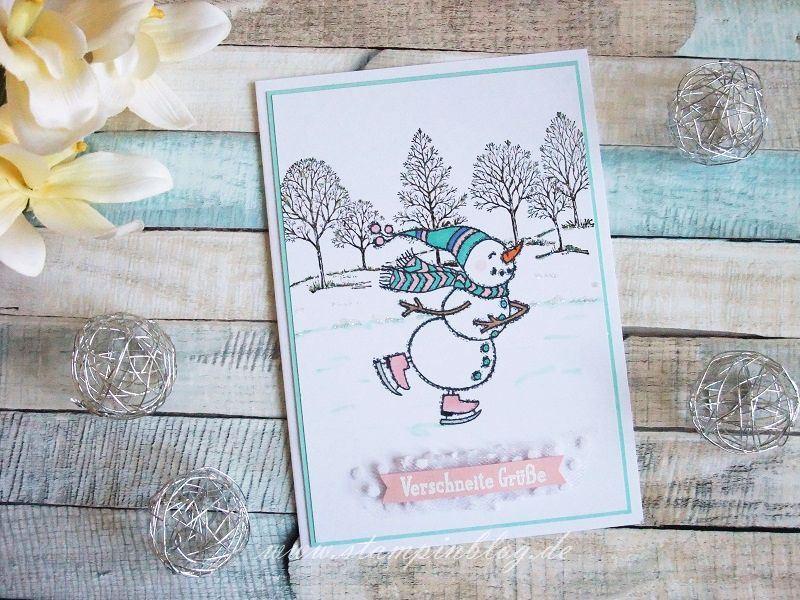 Spirited Snowmen - Schneemann auf Schlittschuhen