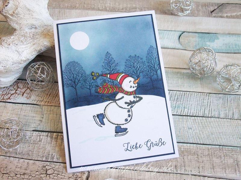Liebe Grüße mit Schneemann