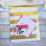 Kartenset Gute Laune Grüße + Gestreifte Geschenktüten