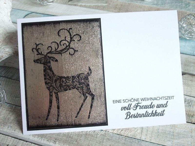 Weihnachtskarten mit der Black Ice – Technik