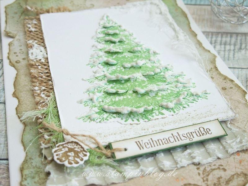 Weihnachtsbaum im Vintage-Look | Stampinblog