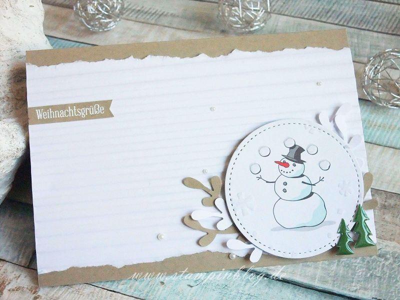 Weihnachtsgrüße mit Schneemann