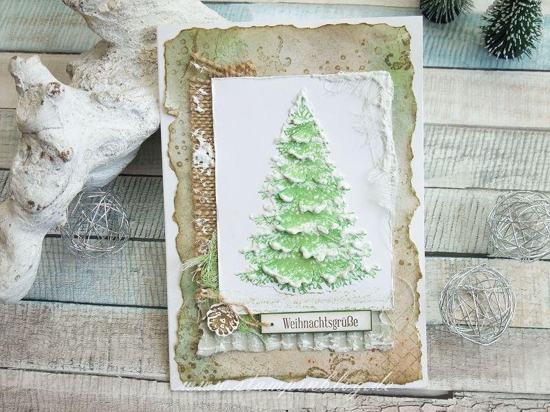 Weihnachtsbaum im Vintage-Look