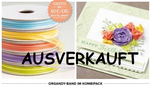 SAB Organdy-Band ausverkauft!