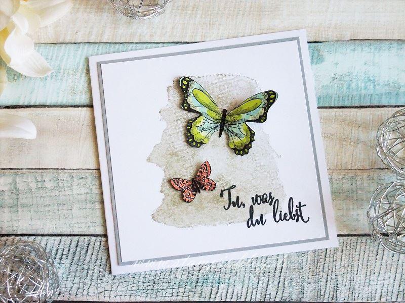 Tu, was du liebst mit Schmetterling