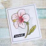Post für dich mit Hisbiskusblüte