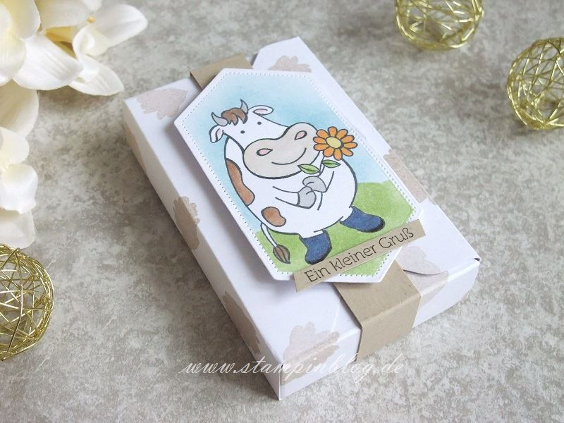 Verpackung für Kuh-Karamell mit Kuhlen Grüssen