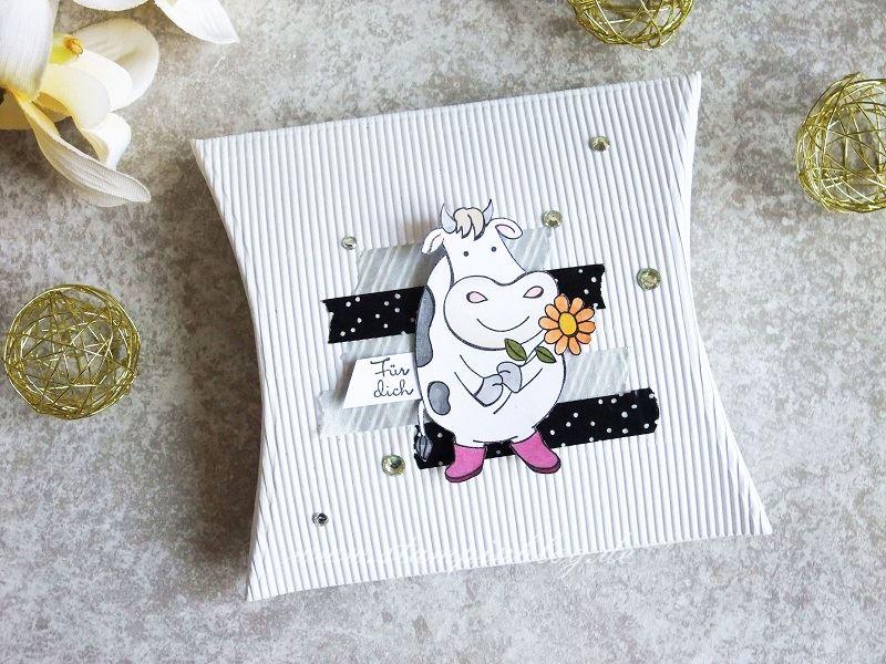 Pillow Box mit Kuh