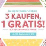 Designerpapier-Aktion: 3 kaufen, 1 GRATIS