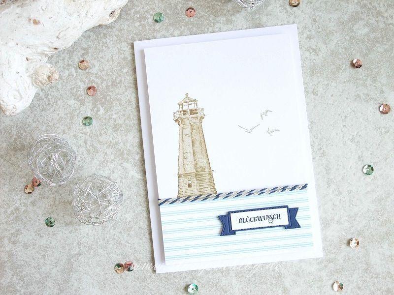 Leuchtturm mit LED zum Geburtstag