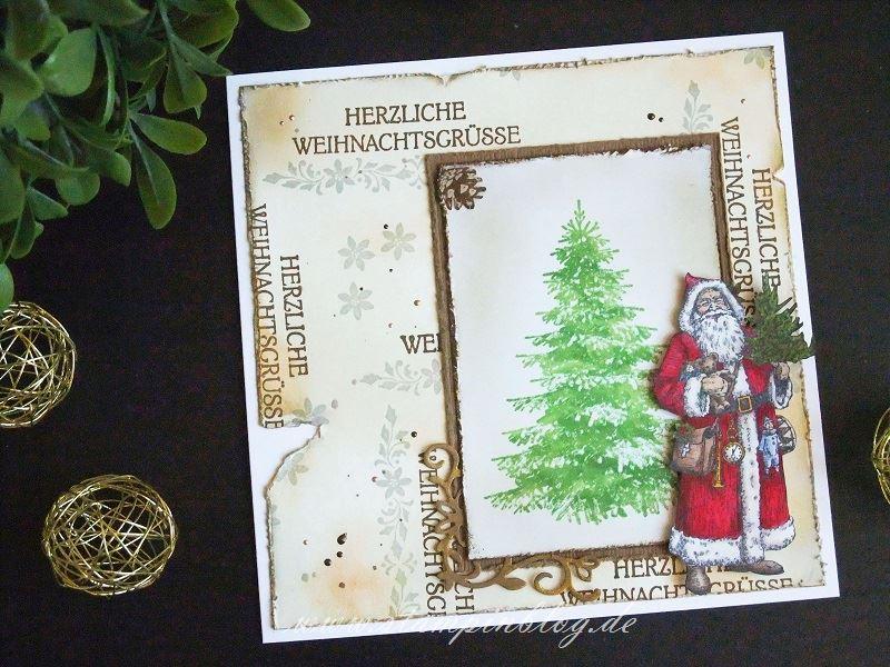 Nostalgische Weihnachtskarte