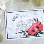 Ein kleiner Gruß mit Painted Poppies