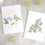 Grußkarte mit Federn