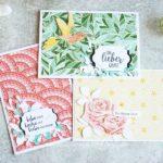 Grusskarten mit Designerpapier Märchenhaftes Mosaik