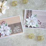 Die ersten Weihnachtskarten - Blühende Weihnachten