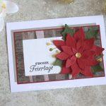 Weihnachtskarte mit Weihnachtsstern und Scrappy Strip Technik