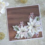 Quadratische Weihnachtskarte mit Weihnachtssternen