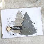 Weihnachtskarte in Grautönen - Tannenbaum