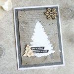 Weihnachtskarten in Grautönen