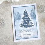 Weihnachtsgrüsse mit Winterwald