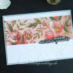 Grüsse mit DSP Kunstvoll Floral und Designerazetat Gartengold