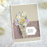 Alle guten Wünsche mit Blumenstrauss