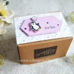 Geschenkverpackung mit Pinguin